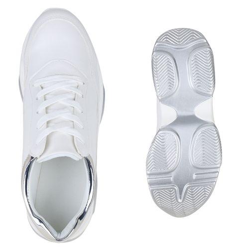 Damen Damen Sneaker Plateau Weiß Weiß Sneaker Damen Plateau Sneaker Plateau wYOZ7q