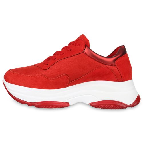 Plateau Sneaker Damen Damen Rot Plateau wqfSgZ