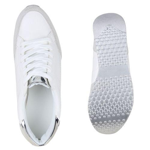 Damen Damen Damen Sneaker Plateau Weiß Sneaker Plateau Weiß wUgSW5