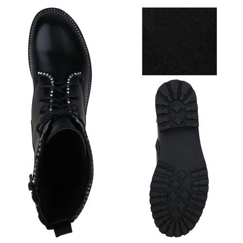 Damen Schwarz Damen Schnürstiefeletten Stiefeletten Stiefeletten 5w0XaWqP
