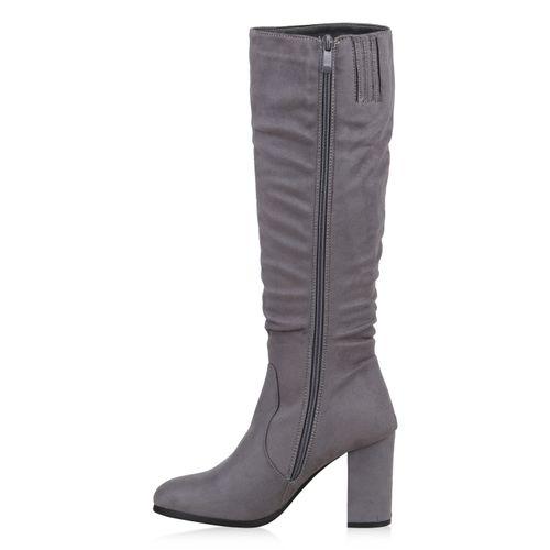 Damen Grau Damen Grau Stiefel Klassische Klassische Klassische Stiefel Grau Stiefel Damen Klassische Damen HOrqAgBHp