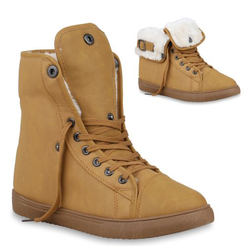 High Sneaker Hellbraun Hellbraun Sneaker Hellbraun Damen High Damen Damen High Sneaker FOUnqU