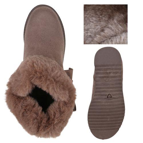 Stiefeletten Damen Boots Winter Khaki Damen Stiefeletten 0pR0w7q