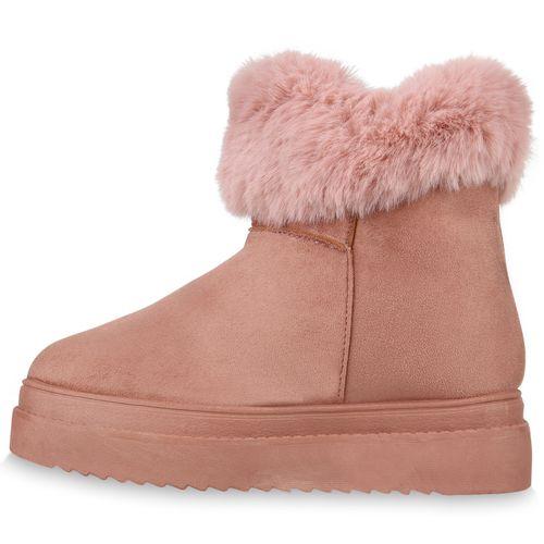 Damen Stiefeletten Winter Boots - Rosa