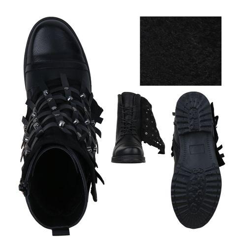 Schwarz Damen Damen Stiefeletten Boots Biker Stiefeletten qYvdXwp