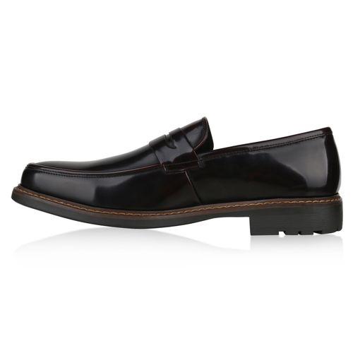 Herren Business Klassische Slippers - Dunkelrot