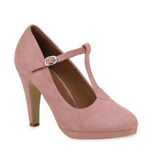 Mary Pumps Damen Damen Janes Pumps Rosa 7OPPwvq