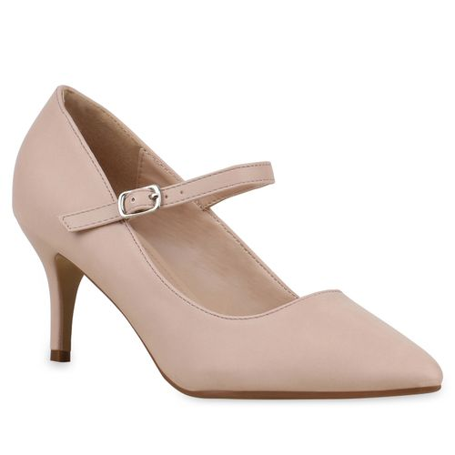 Damen Pumps Mary Janes - Creme