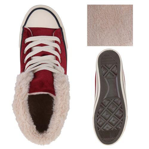 Damen Sneaker high - Dunkelrot