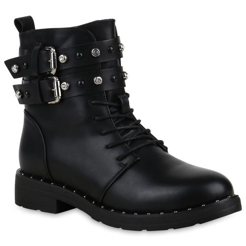 Damen Schnürstiefeletten Schwarz Stiefeletten Stiefeletten Schnürstiefeletten Damen Schwarz xwBq8XEPw