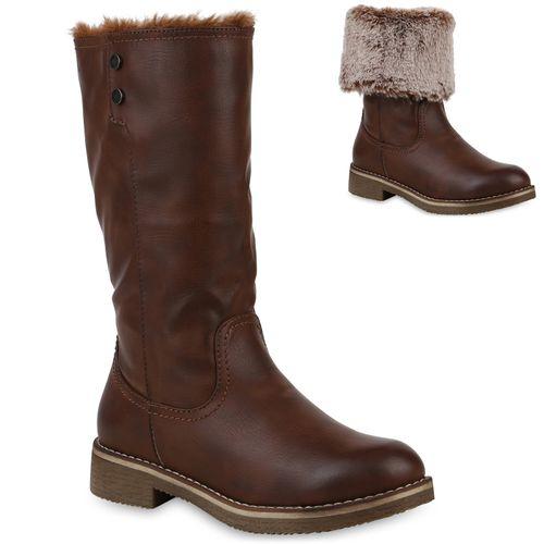 Damen Klassische Stiefel Braun