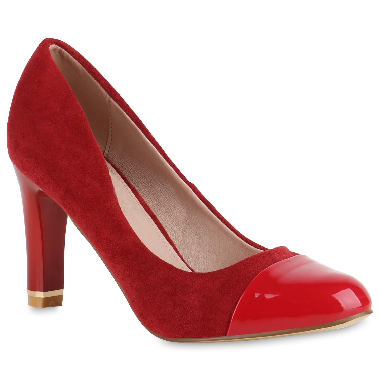 Pumps für Frauen - Damen Klassische Pumps Rot  - Onlineshop Stiefelparadies