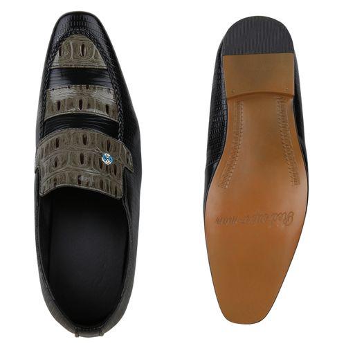 Herren Business Klassische Slippers - Schwarz Muster