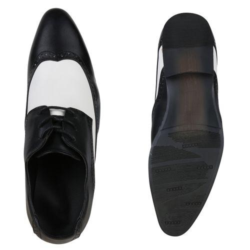 Herren Business Budapester - Schwarz Weiß