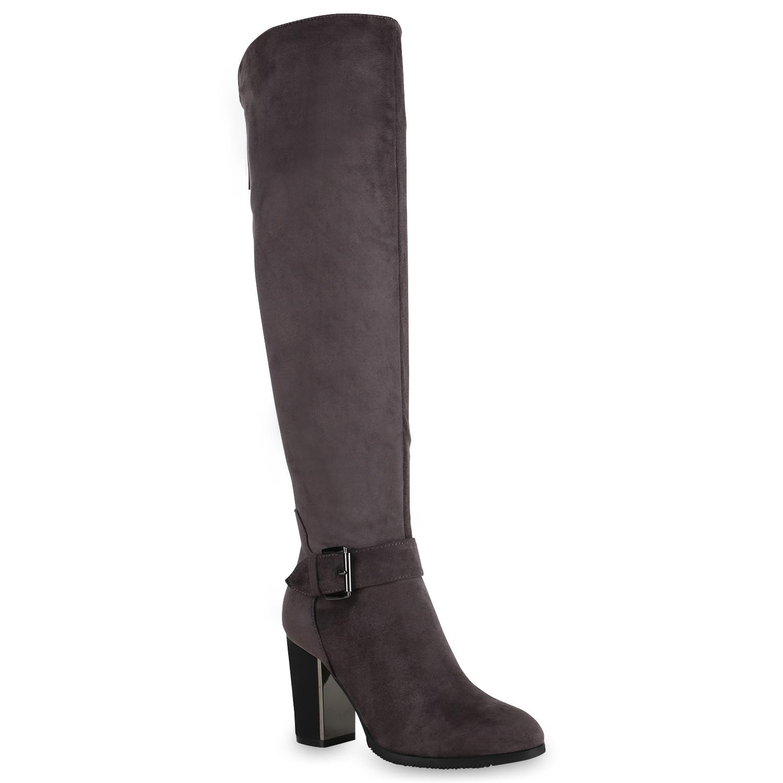 Stiefel - Damen Klassische Stiefel Grau › stiefelparadies.de  - Onlineshop Stiefelparadies