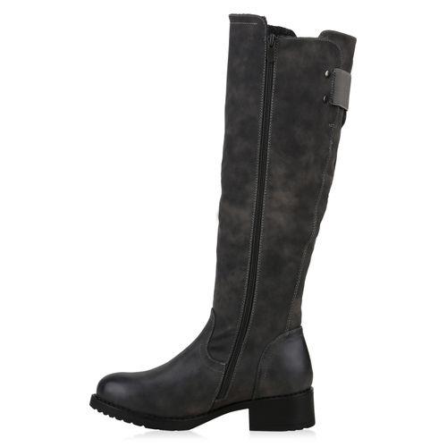 Damen Stiefel Klassische Klassische Grau Klassische Damen Stiefel Grau Damen Grau Stiefel Stiefel Klassische Damen wf4IS6
