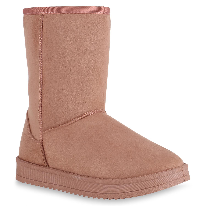 Damen Stiefel Schlupfstiefel - Pink