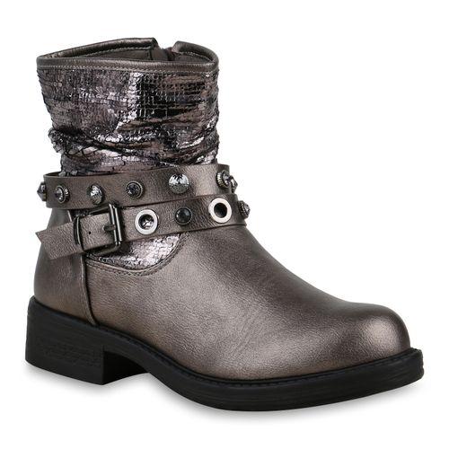 94d2cf3d28577e Damen Stiefeletten in Grau Metallic (825503-4769) - stiefelparadies.de
