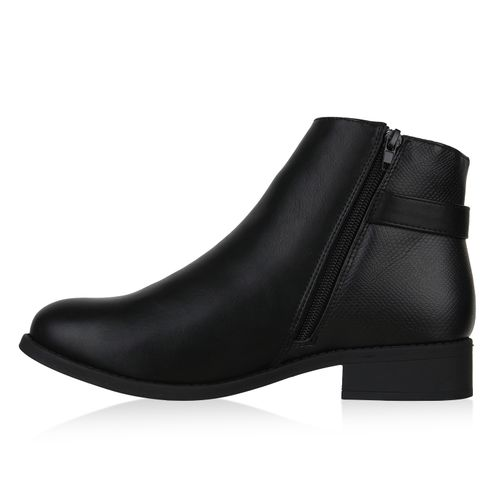 Klassische Schwarz Damen Damen Klassische Stiefeletten v1qIZER70