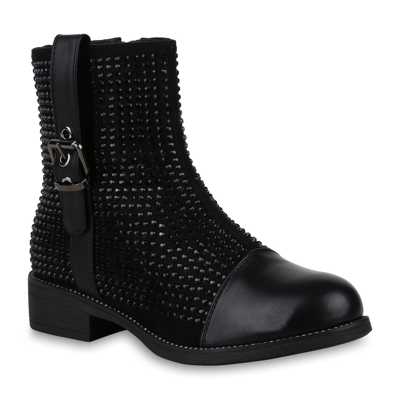 Stiefel - Damen Klassische Stiefeletten Schwarz › stiefelparadies.de  - Onlineshop Stiefelparadies