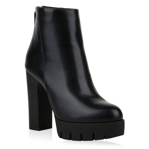 Damen Schwarz Damen Stiefeletten Plateau Plateau Boots Stiefeletten Boots Schwarz Zrp1Zq
