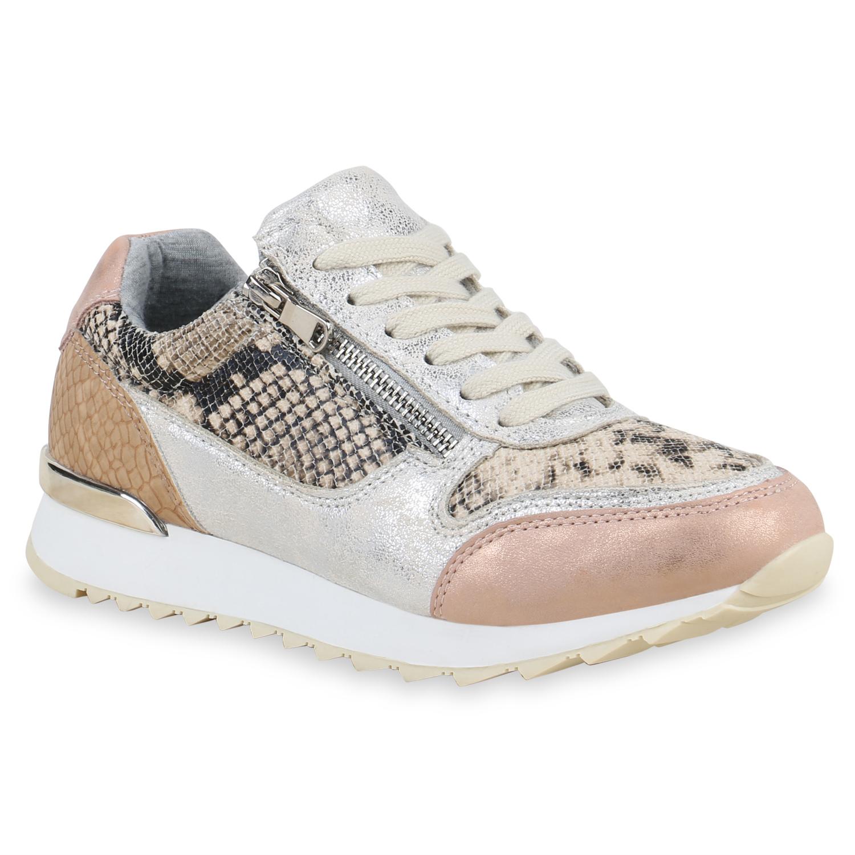 new style aaed1 963f2 Damen Plateau Sneaker - Rose Gold