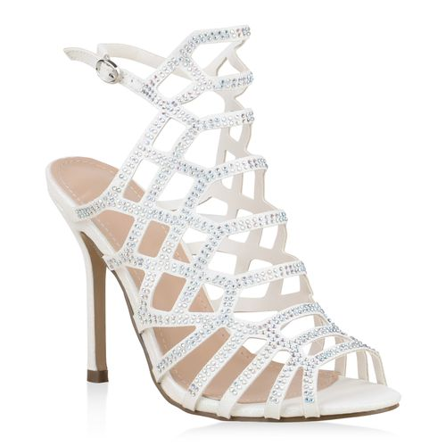1da98762f488a Damen Sandaletten High Heels - Weiß