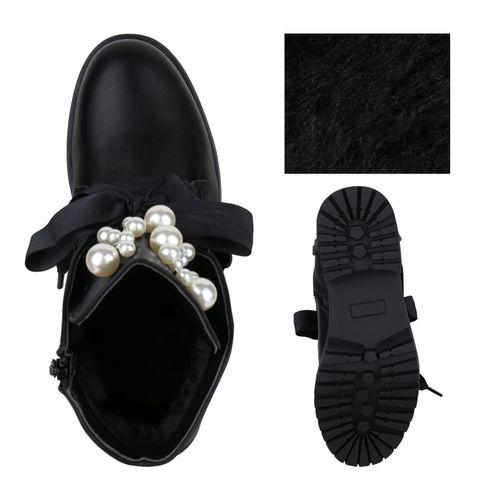 Damen Damen Schwarz Schnürstiefeletten Stiefeletten Stiefeletten 4WP5qw6q