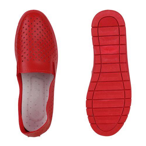 Ons Damen Slip Ons Rot Damen Slippers Ons Slip Rot Slippers Slippers Rot Slip Damen Wfqg77