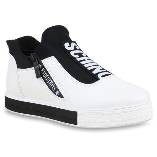 1320618c90cae Damen Plateau Sneaker - Weiß
