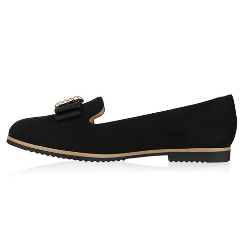 Damen Loafers Slippers Slippers Damen Loafers Loafers Schwarz Schwarz Slippers Damen a7v4q