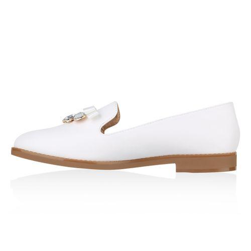 Damen Slippers Loafers Slippers Weiß Damen SWTqBFnwg