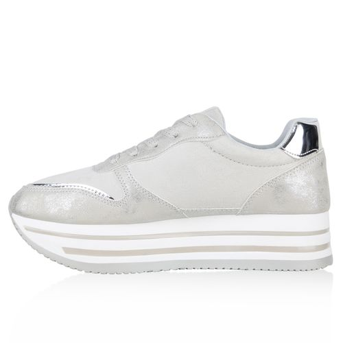 Grau Sneaker Damen Plateau Plateau Damen Sneaker Grau ZYnxaqgXq