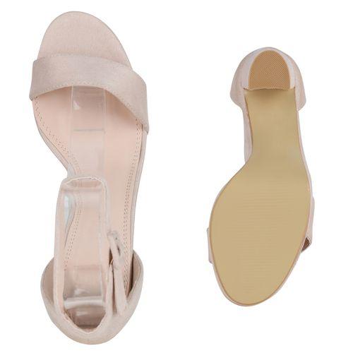 Sandaletten Creme Damen Sandaletten Riemchensandaletten Damen UEwW4Pq0