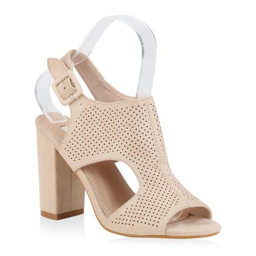 High Heels Creme Damen Damen Sandaletten High Sandaletten High Sandaletten Creme Damen Heels AqwddO5