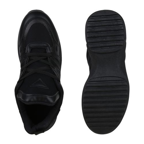 Plateau Damen Damen Schwarz Plateau Schwarz Sneaker Damen Sneaker Plateau wHqTTI5P4