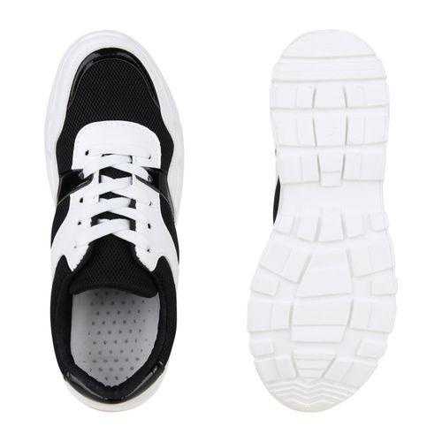 Damen Damen Plateau Schwarz Sneaker Sneaker Plateau Schwarz Damen qH8OwxtR