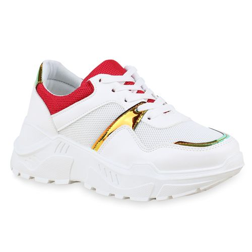 Plateau Damen Sneaker Damen Sneaker Sneaker Plateau Rot Damen Rot Rot Plateau FW8gn