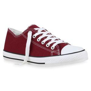 Damen-Sneaker-Dunkelrot