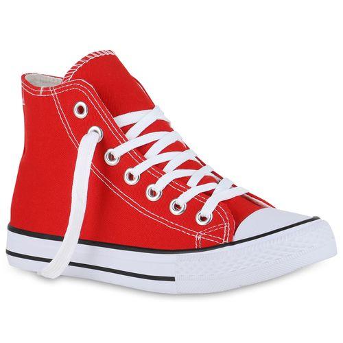 Sneaker Damen High Damen High Rot Sneaker xPHwqF