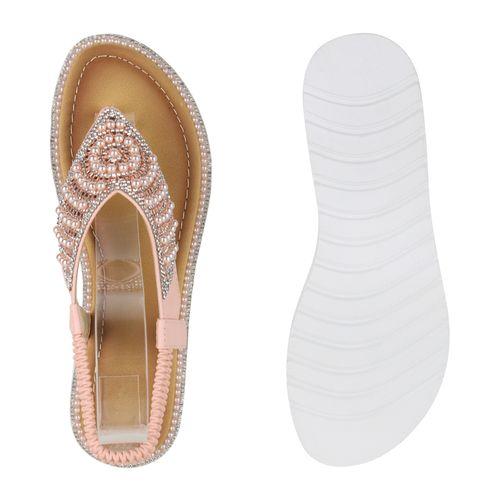 Zehentrenner Sandaletten Damen Sandaletten Zehentrenner Rosa Damen Damen Sandaletten Rosa wx5qEFvE