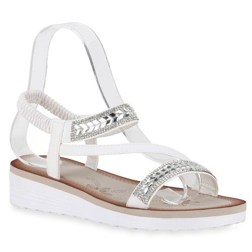 Sandaletten Damen Sandaletten Weiß Damen Keilsandaletten TwYxFSw