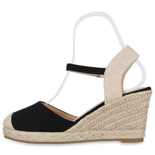 Sandaletten Damen Schwarz Keilsandaletten Damen Sandaletten Keilsandaletten Zqv8fx