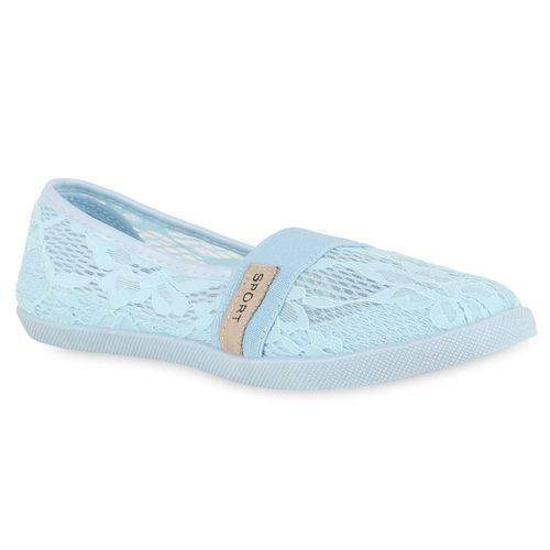 Hellblau Slip Ons Damen Slippers Slip Slippers Damen Ywaq1T0