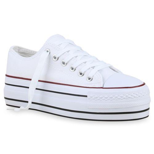 f797aa1f9b5c77 Damen Sneaker in Weiß (825885-686) - stiefelparadies.de