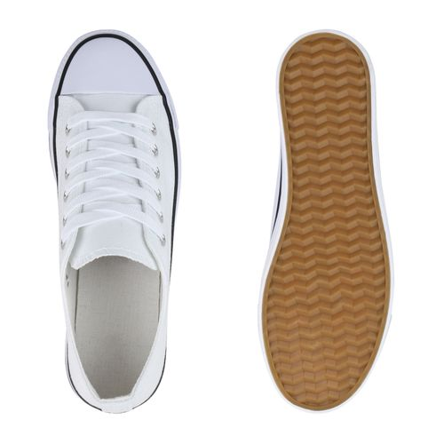 Billig Damen Schuhe Damen Sneaker in Weiß Schwarz 897724785