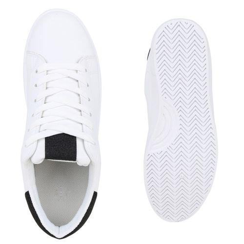 Damen Sneaker low - Weiß Schwarz