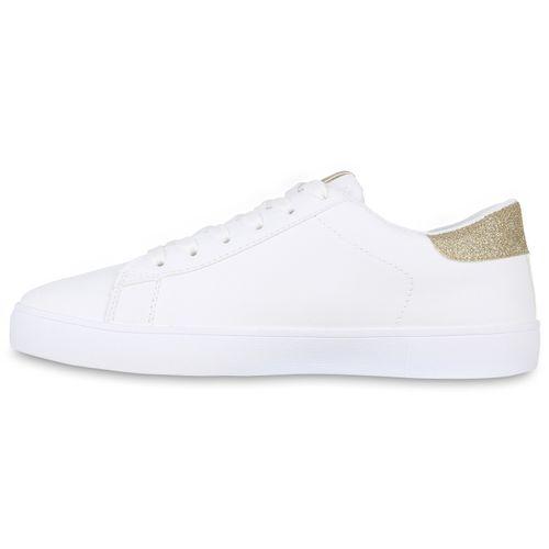 Damen Sneaker low - Weiß Gold