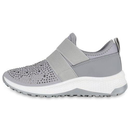 Damen Sportschuhe Slip Ons - Grau