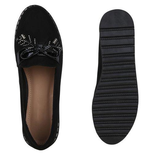 Klassische Damen Damen Klassische Schwarz Slippers Schwarz Slippers Damen X4IEqE